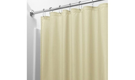 groupon.com - 2-Pack: Heavy-Duty Magnetic Mildew Resistant Solid Vinyl Shower Curtain Liners