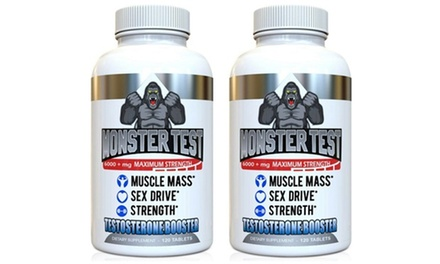 Buy 1 Get 1 Free: Monster Test Testosterone Booster (240-Count)