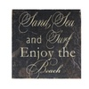 Cheungs Sand Sea Surf Printed Wording Wall Hanging
