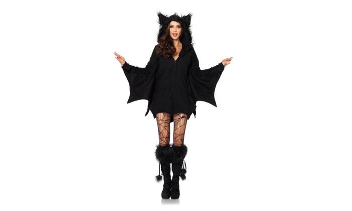 f5937058f6309 Leg Avenue Women's Cozy Bat Costume Black | Groupon