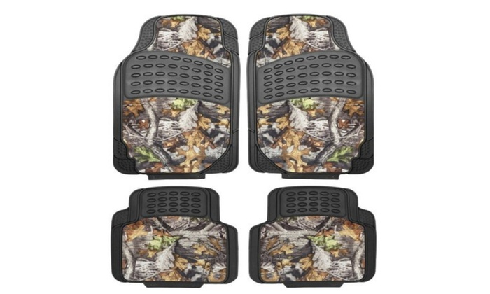 mossy surreal camouflage set of 4-piece car truck floor mat set