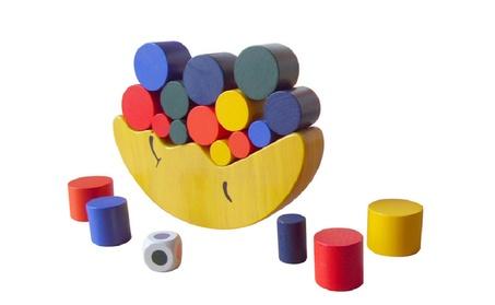 Kid Wooden Cartoon Moon Balancing Building Blocks Stacking Toy Gift 7fe89e5d-b11b-48d8-a277-69f9e5454c12