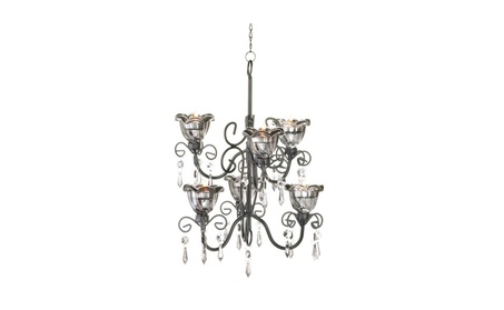 Koehler Home Decor Midnight Blooms Double Chandelier 9cb86ef2-ae61-4b21-bcd1-2cee167920e0