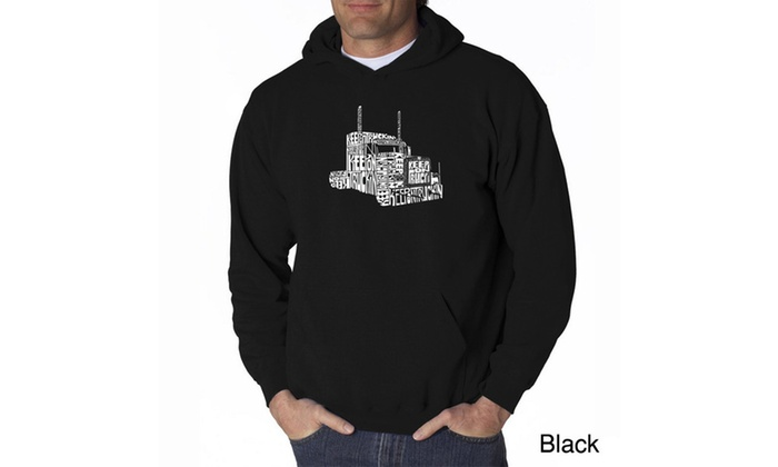 Men's Hooded Sweatshirt - KEEP ON TRUCKIN'