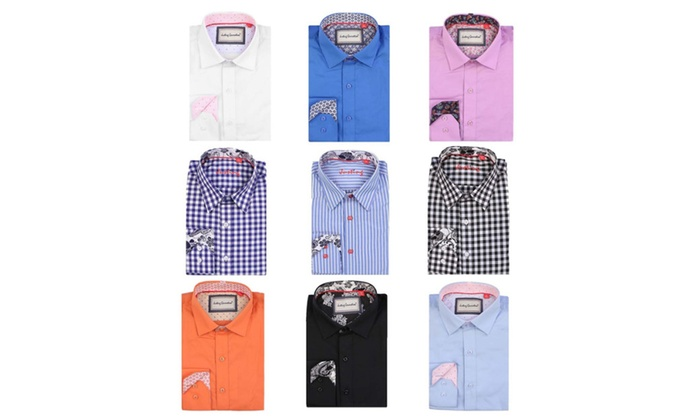 Justing Men's Button Down Long Sleeve Shirt