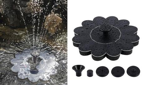 Solar Power Panel Birds Bath Fountain Garden Pool Pond Floating Water Pump