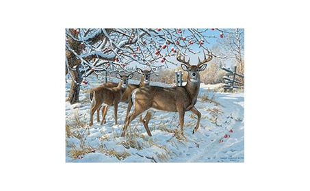 Outset Media Games OM52083 Winter Deer- 500 Piece Puzzle d136be8c-3cbe-4514-80a3-972fb369d94f