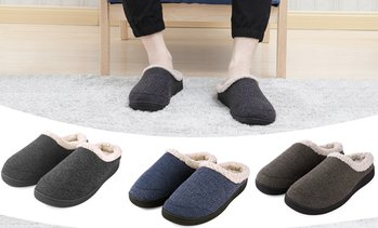 Vonmay Men's Memory Foam Anti-Slip House Warm Cozy Slippers Shoes