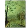 John Atkinson Grimshaw 'A Moonlit Road' Canvas Art