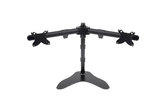 Mono Dual Monitor Free Standing Desk Mount 15 30 In