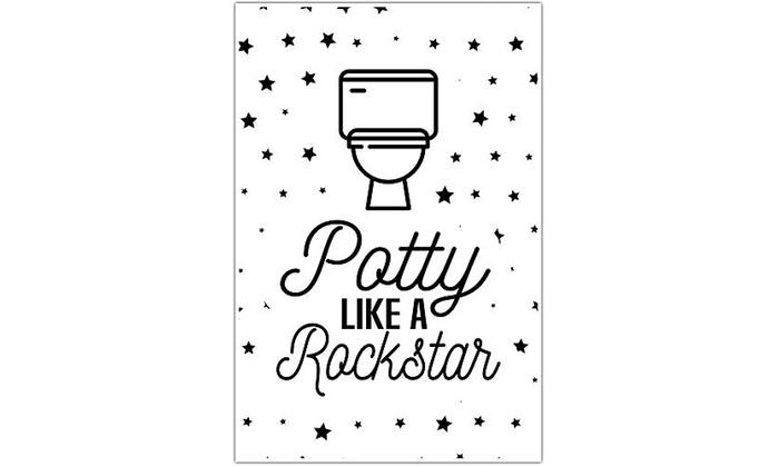 Potty Like A Rock Star Bathroom Humor Wall Art