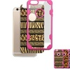 Insten Zebra Hard Crystal Tpu Case For Iphone 6 6s Clear Hot Pink