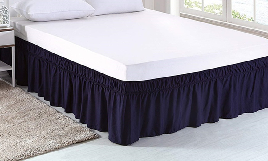 Off On Wrap Around Bed Skirt Valance, Wrap Around Bed Skirt Queen Size