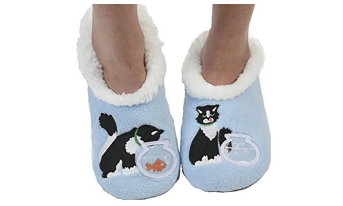 4e297d78263 Snoozies Womens Classic Cat Slipper Socks