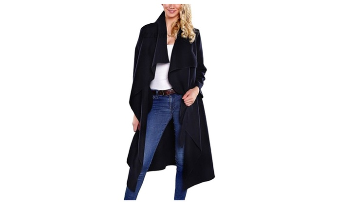 Women's Autumn Long Trench Overcoat With Belt