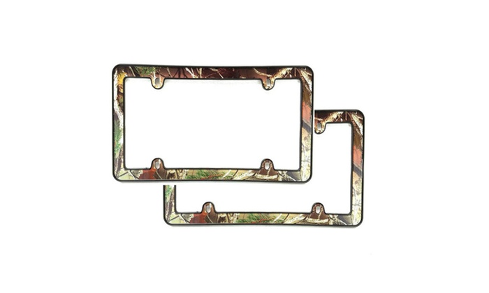 2x Camouflage Hunting Nature Muddy Water License Plate Frame Camo ...