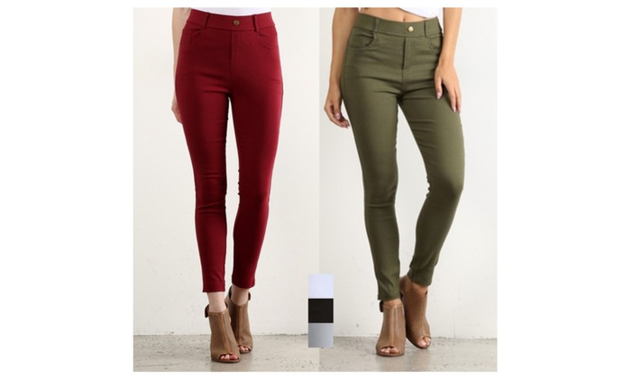 Elastic Stretch Jeggings in 5 colors