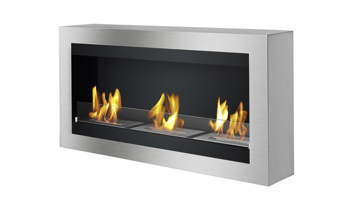 Magnum - Wall Mounted Ventless Ethanol Fireplace By Ignis