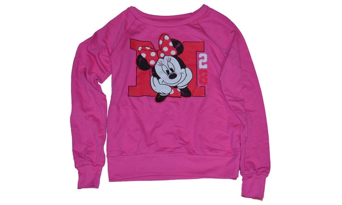 Disney M is for Minnie Mouse Junior Size Light Long Sleeve Sweatshirt