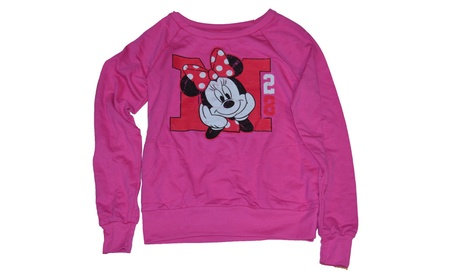 Disney M is for Minnie Mouse Junior Size Light Long Sleeve Sweatshirt b36d4457-55ea-41f8-b994-4d5989d720f2