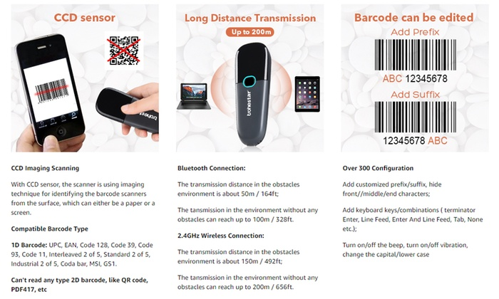 Up To 12% Off on Mini Wireless Barcode Scanner    | Groupon
