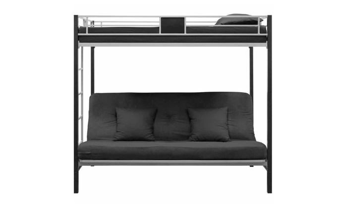 Twin Over Futon Metal Bunk Bed