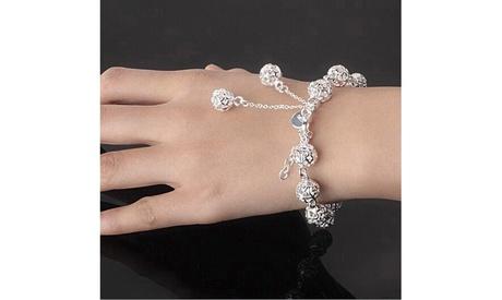 925 Sterling Silver Jewelry Lady Pastoral Style Bracelet Jewelry