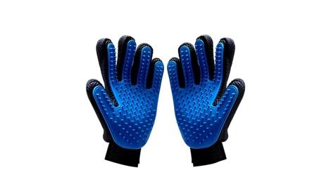 Pet Grooming Glove Pet Hair Remover Bath Brush Gentle Massage Tool 78e6305e-e6b7-49ee-84e8-4e53eccb3cc2
