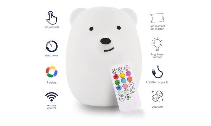 6fef6a60c7 Lumipets: LED Nursery Night Lights for Kids - Cute Animal Silicone Night  Light