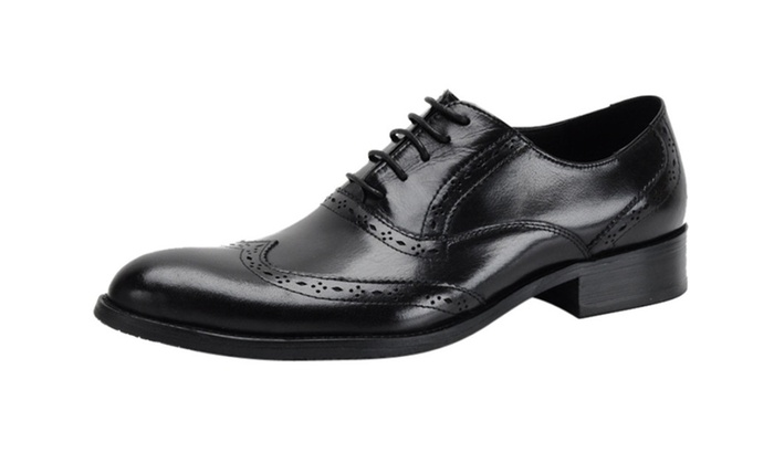 Men's Leather Wing Tip Pointy Oxford