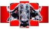 Angry Bull Animal Metal Wall Art 60x32 5 Panels