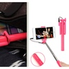 Pen-Sized Self-Portrait Monopod with Built in Wired Control (Pink)