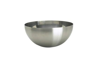 Serving bowl 11 large stainless steel salad food dinner utensil