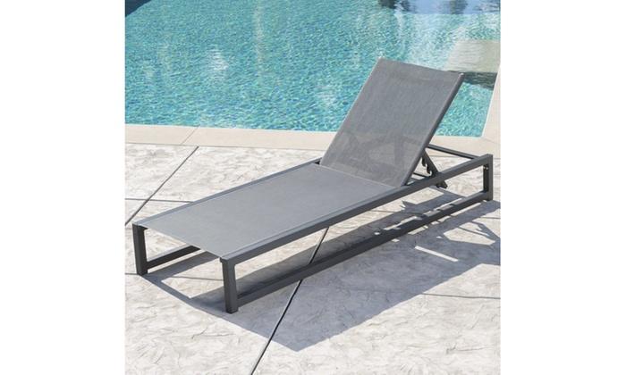 Mottetta Outdoor Framed Chaise Lounge