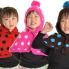 Kids Angelina Knitted Hoodie Sweater Poncho with Pom-Pom