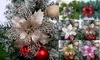 12Pcs Glitter Artificial Christmas Flower Poinsettia Xmas Tree Wreaths Ornaments