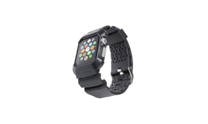 Band Strap Bracelet Case Cover Apple Watch Iwatch 42mm Rubber Rugged