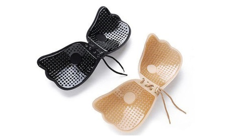 Strapless Backless Bra push up silicone drawstring adjustable breast deb9e9b1-261a-4596-a4df-e6adcfec9b81