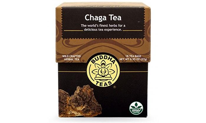 Buddha Teas Chaga Tea 18 Bag
