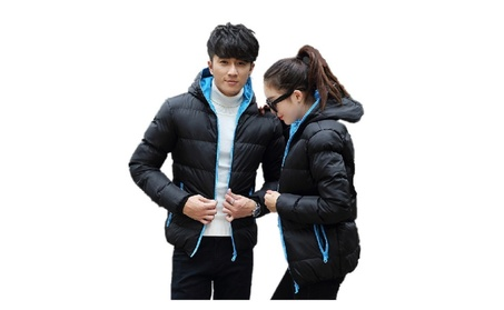 2017 Warm Outwear Winter Windproof Hood Men Women Love Jacket 2be635b0-06f4-4b84-830d-3a61b7f680e8