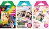 Fujifilm Instax Mini Film Rainbow & Stained Glass & Candy Pop Film 30 Sheets