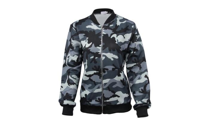 Women's Satra Camo Bomber Jacket