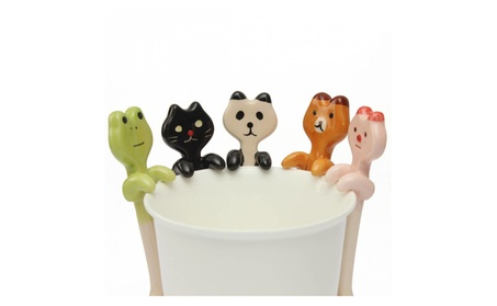 Animal Ceramic Hanging Tea Soup Spoon 368371b9-6342-4cc2-a746-e5f5a3cd20b6