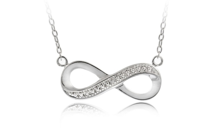 b774038f81a94 Sterling Silver Diamond Accent Infinity Necklace