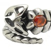 Stainless Steel Gothic Red Crystal Scorpion Unisex Ring