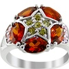 Orchid Jewelry 925 sterling silver 3.67ct TGW cubic zirconia ring