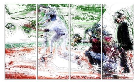 Baseball Bases Loaded Metal Wall Art 48x28 4 Panels 1ab838c6-3654-4a09-a5da-4b4e7691d833
