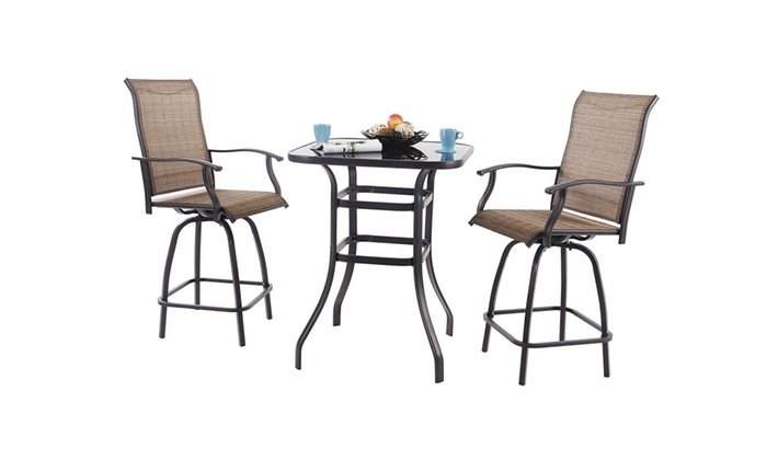 Phi Villa Bar Height Bistro Table Outdoor Bar Table Groupon
