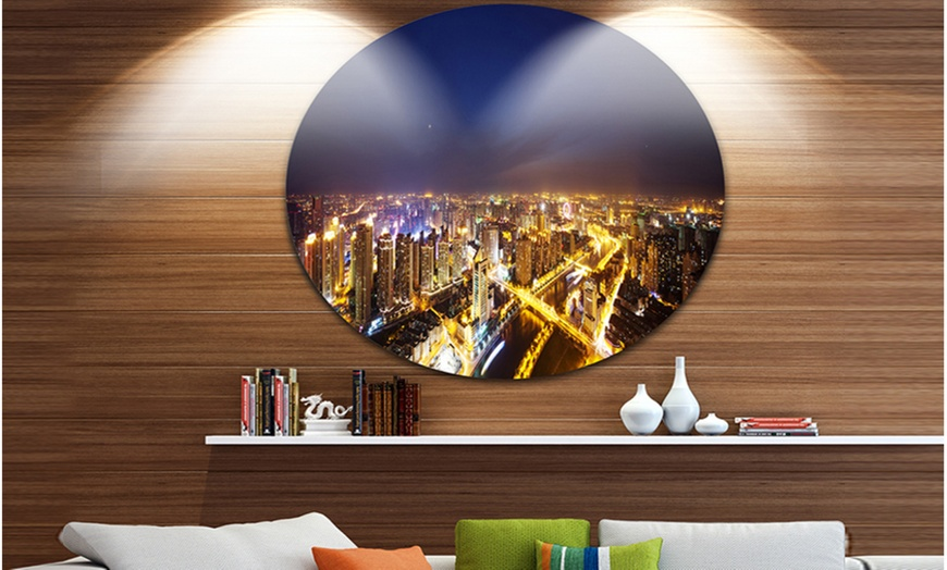 Up To 7 Off On Downtown Nighttime Panorama Groupon Goods