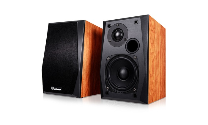 Wall Mount Passive Bookshelf Speakers Professional Home Office